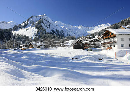 Stock Photography of Baad with Guentlespitze, Unspitze and.