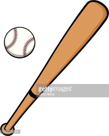 Baseball and Bat Clipart Image.