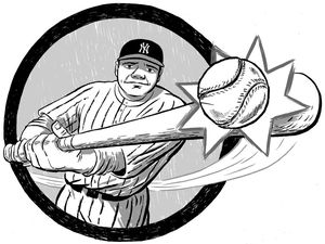 Babe ruth clipart 4 » Clipart Station.