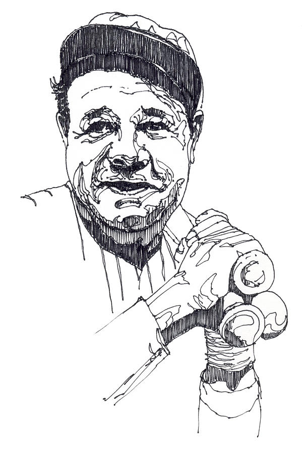 Free Babe Ruth Coloring Page, Download Free Clip Art, Free.