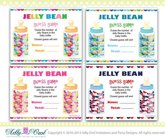 Colorful Jelly beans guess game, how many jelly beans game.