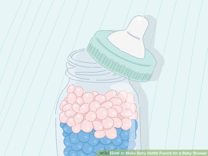 3 Ways to Make Baby Bottle Favors for a Baby Shower.