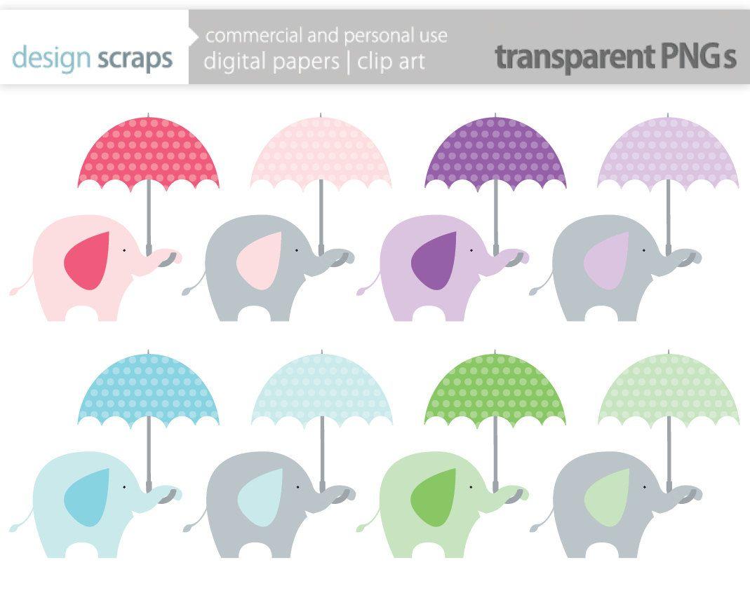 Blue Baby Shower Umbrella Clipart.