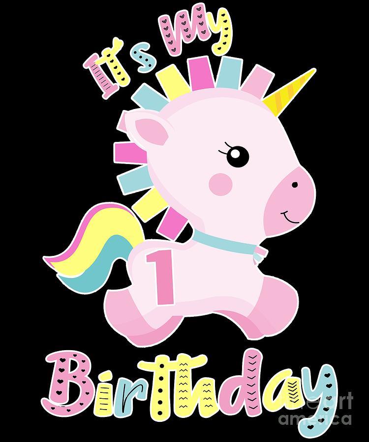Its My 1st Birthday Baby Unicorn Girls Gift.