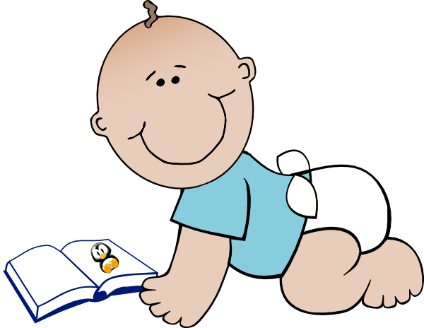 babies and book clip art.