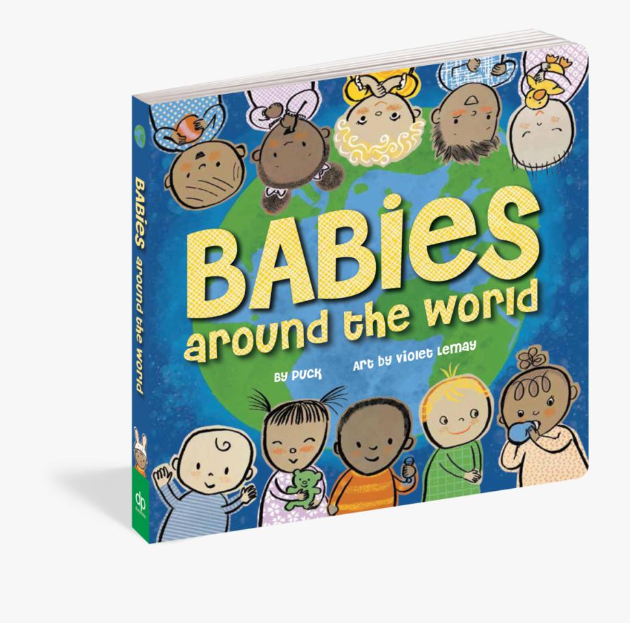 Babies Around The World Book, Cliparts & Cartoons.