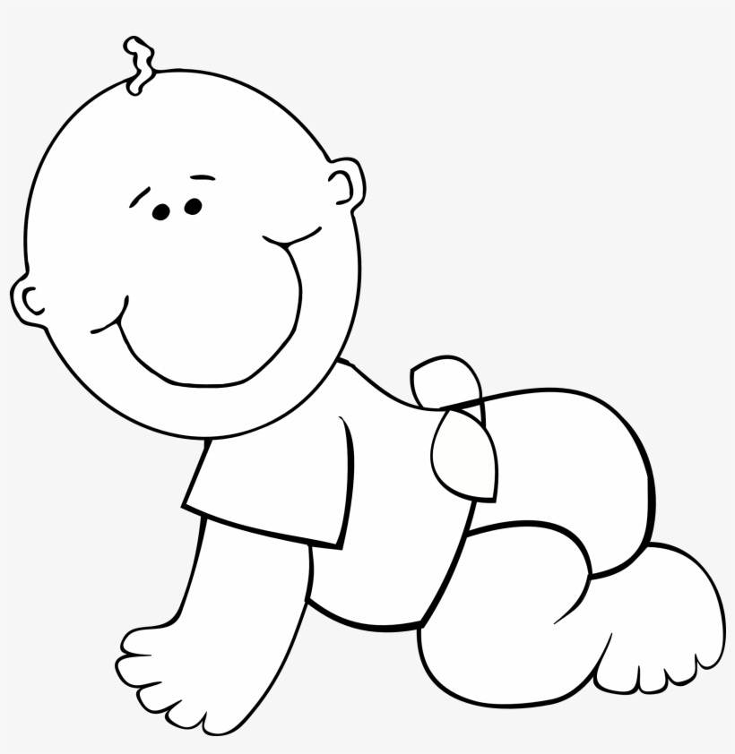 clipart black and white children #10