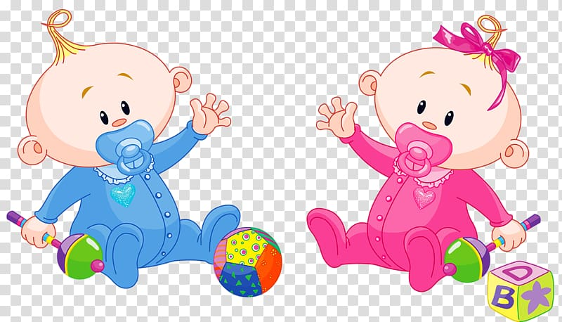 Baby boy and girl illustration, Infant Cartoon Child.