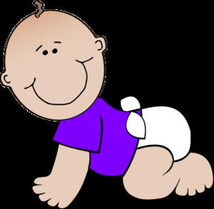 Clip Art Of 5 Babies Clipart.