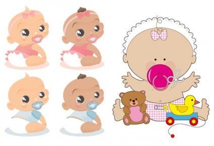 Cute babies clipart free.