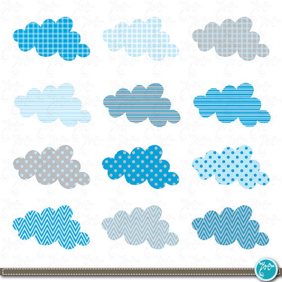 Cloud Clip Art , Blue baby cloud, Baby cloud perfect for.