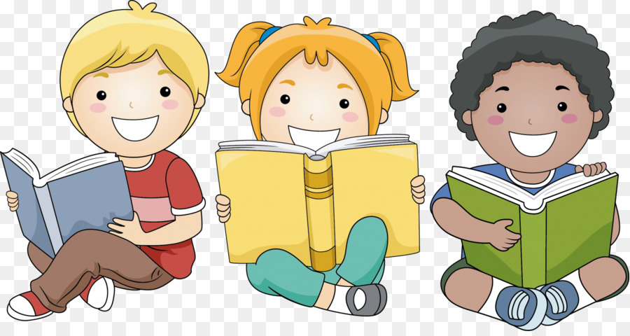 Child Reading Book clipart.