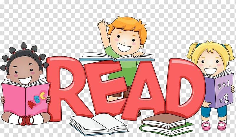 Children reading books illustration, Child Reading Free.