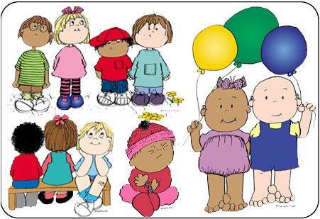 Clip Art: Toddlers Babies.