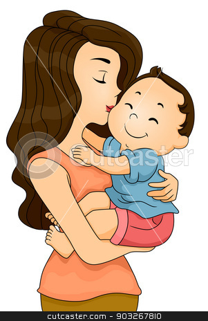 Mother clipart baby kiss, Mother baby kiss Transparent FREE.