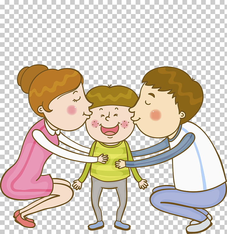 Family Parent Kiss, Kissing scenes PNG clipart.