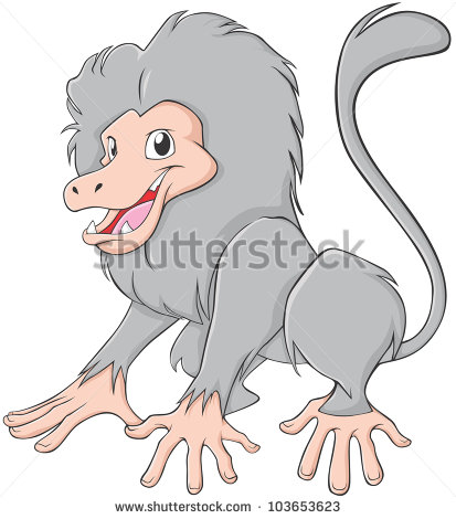Lovely Baboon Stock Photos, Royalty.