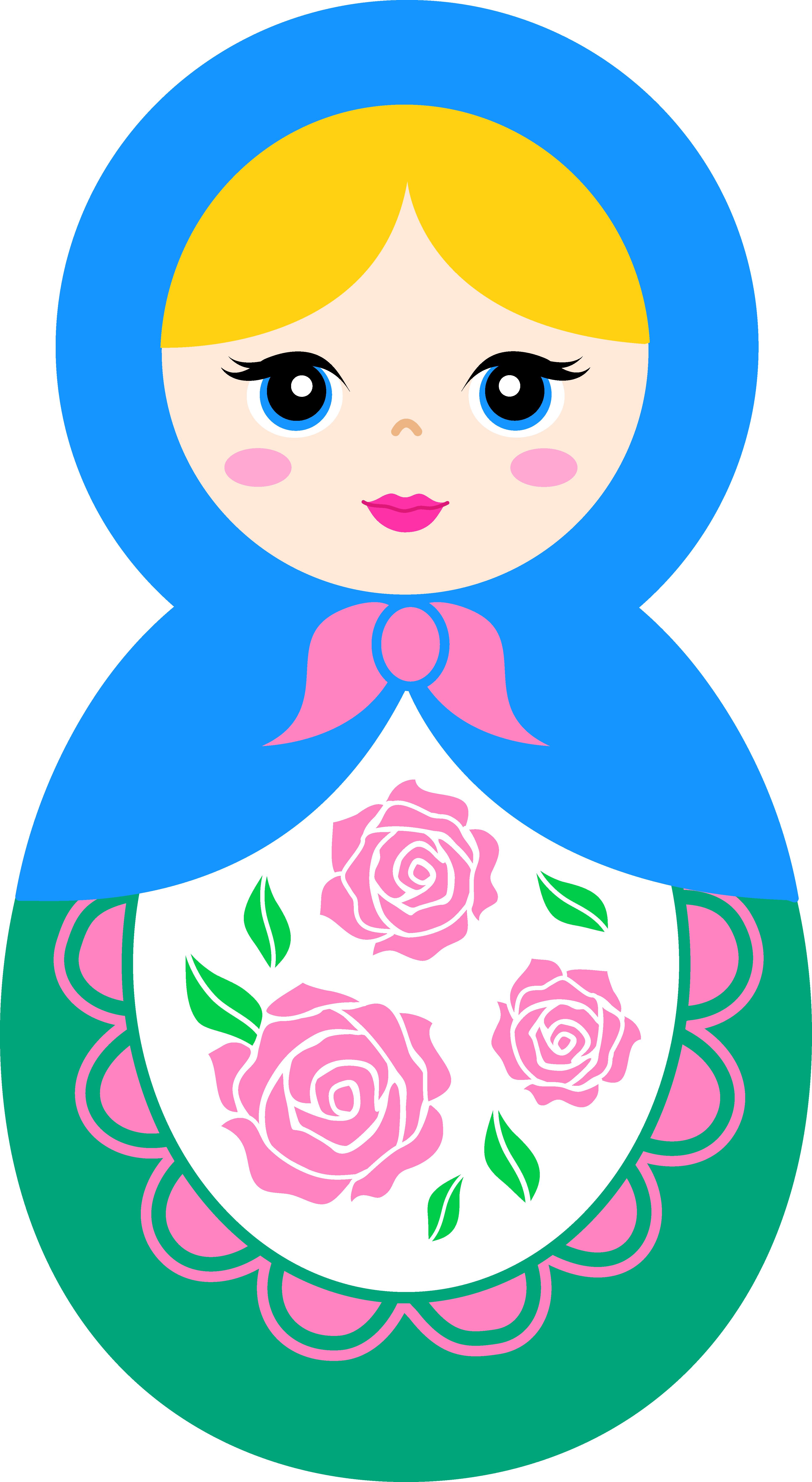 Babushka doll clipart.
