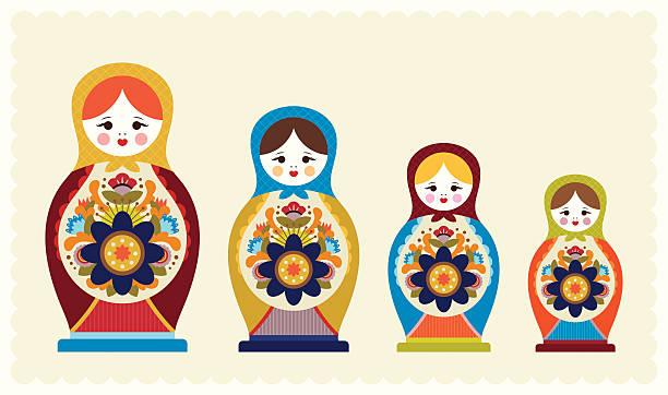 Best Russian Nesting Doll Illustrations, Royalty.