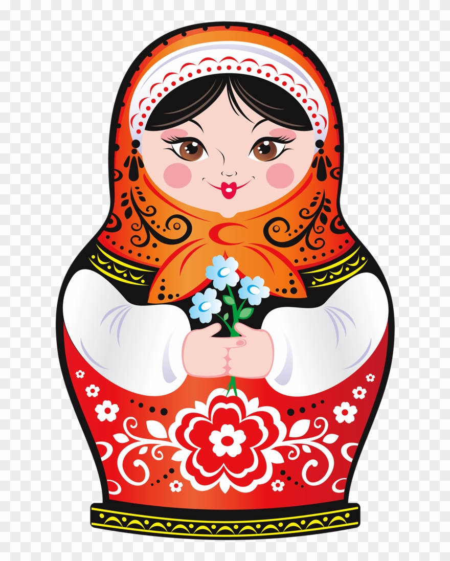Russian Nesting Dolls Clipart.