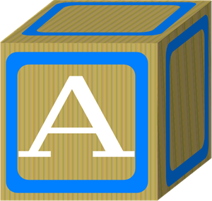 Baby Blocks Abc 2 A PNG, SVG Clip art for Web.