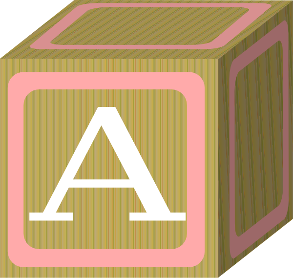 Baby Blocks Abc 2 A Clip Art at Clker.com.