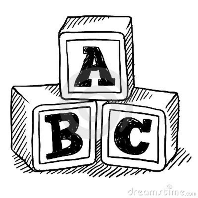 Abc Blocks Drawing.