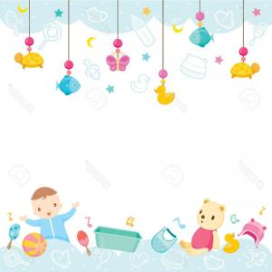 Set Of Baby Clothing And Accessories Vector Clipart.