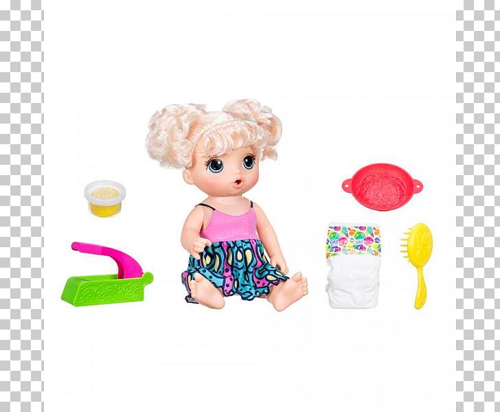 Hasbro Baby Alive Super Snacks Snackin\' Sara Doll Noodle Toy.