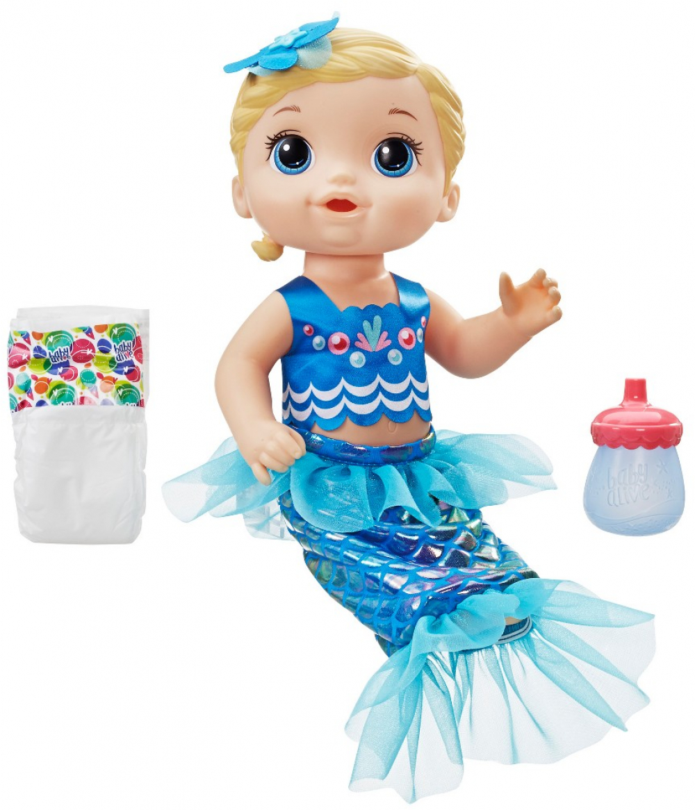 Details about Hasbro Baby Alive Shimmer n Splash Mermaid Blond Hair Baby  Doll Kid Toy Gift.
