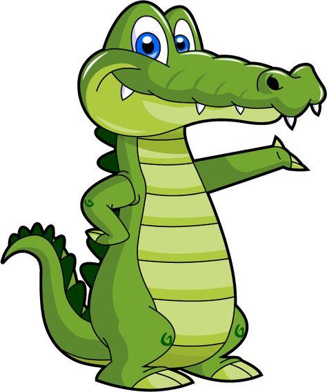 Cute Baby Alligator Clipart.