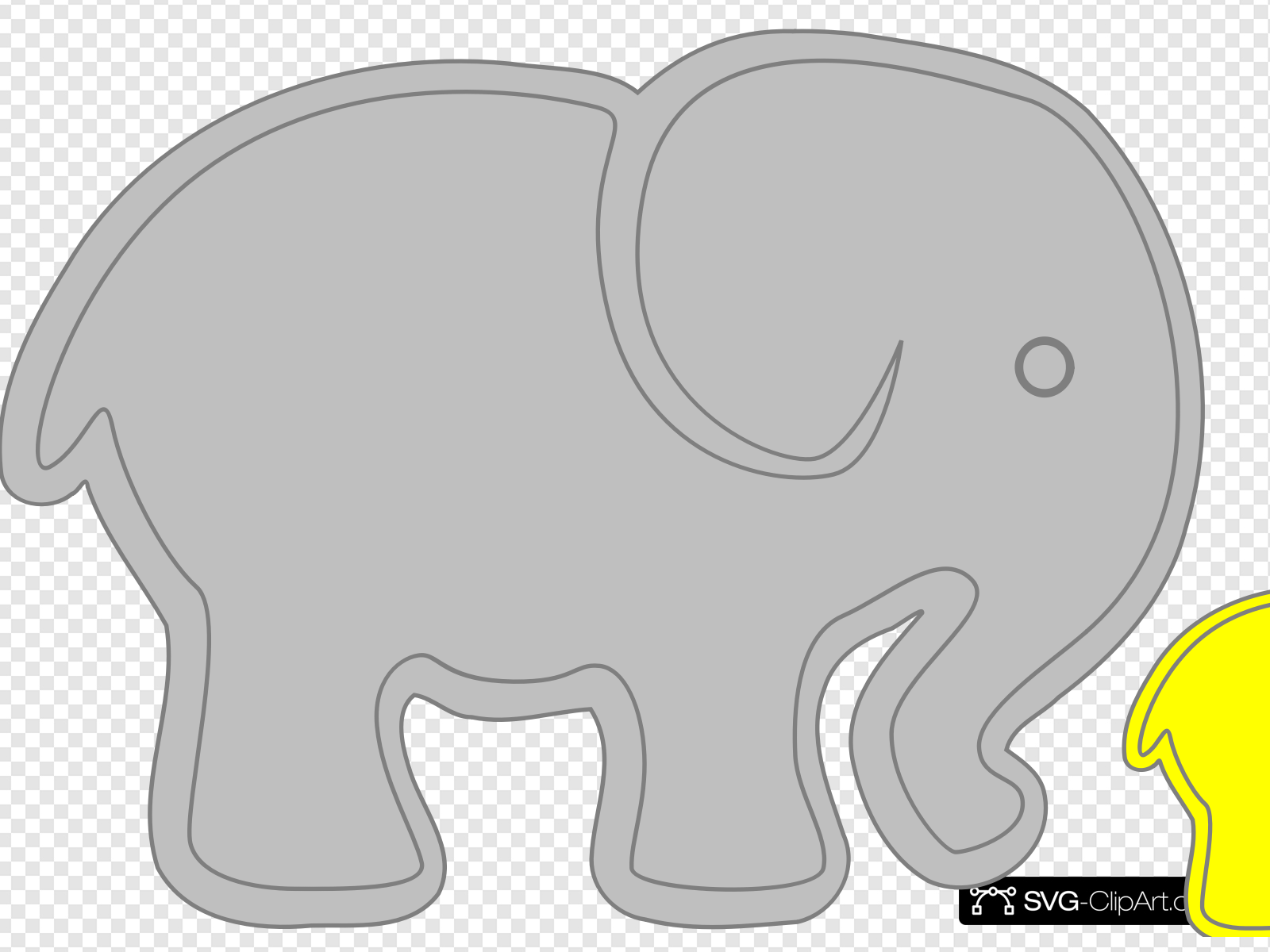 Adult Elephant With Baby Elephant Clip art, Icon and SVG.