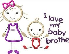 Brothers clipart baby brother, Brothers baby brother.