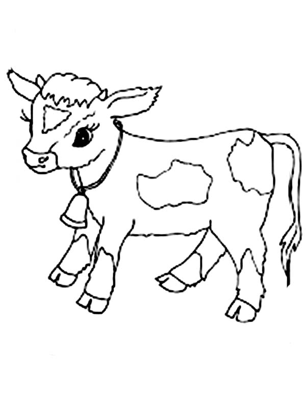 Baby Cow Clipart Black And White.