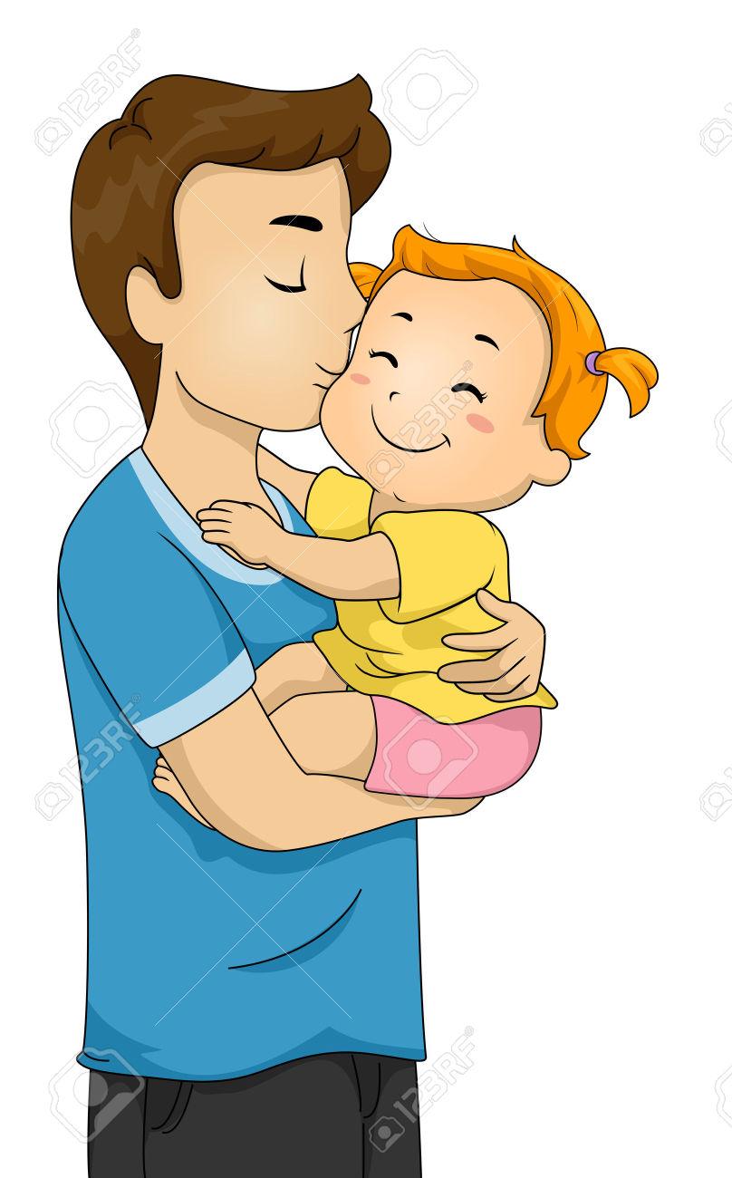 Как нарисовать рисунок папы с ребенком