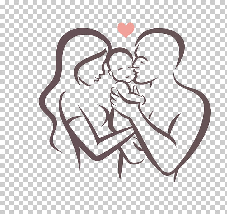Family Happiness Parent Symbol, family, man and woman.