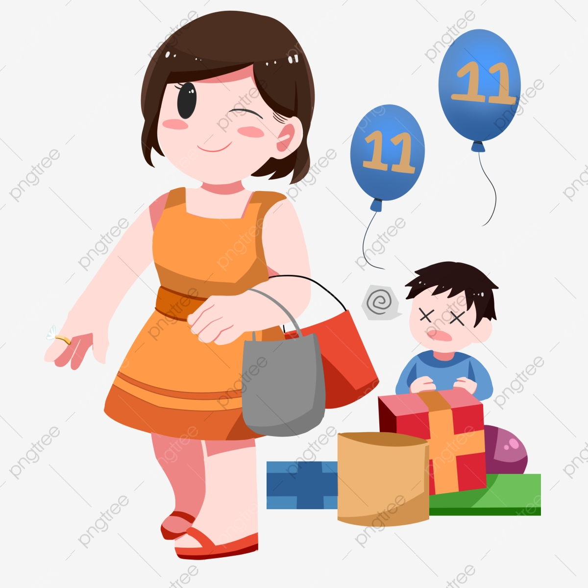 Mother And Baby Mom Handbag Dress, Mother And Baby, Mom, Handbag PNG.