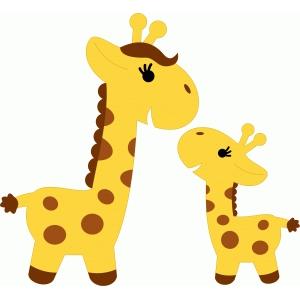5928 Giraffe free clipart.