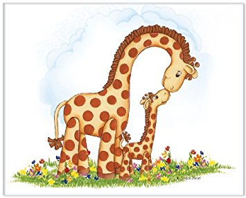 Giraffe Mom And Baby Clipart.