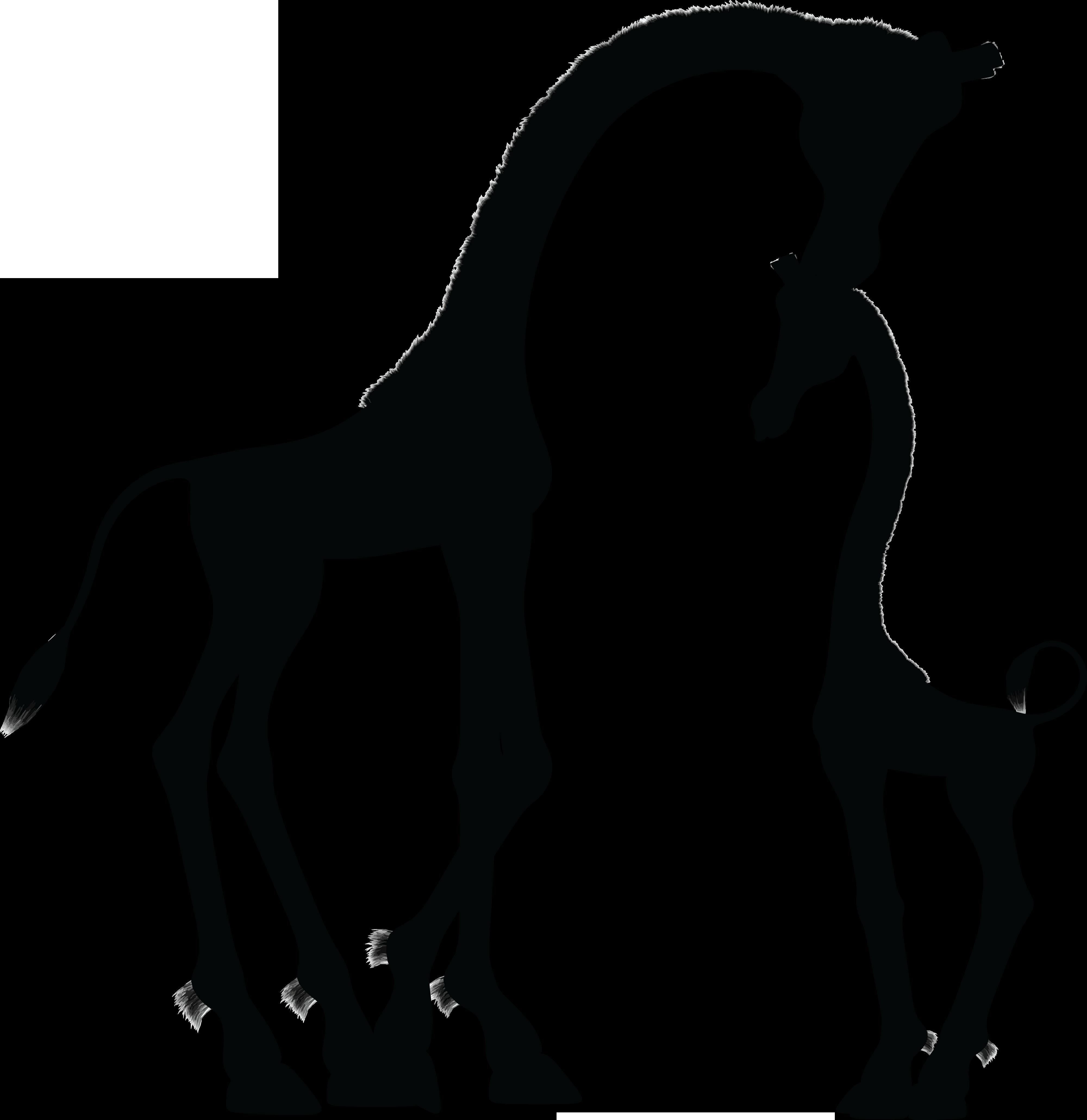 Baby Giraffes Silhouette Clip art.