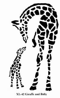 Baby And Mommy Giraffe Clipart Outline Clipground