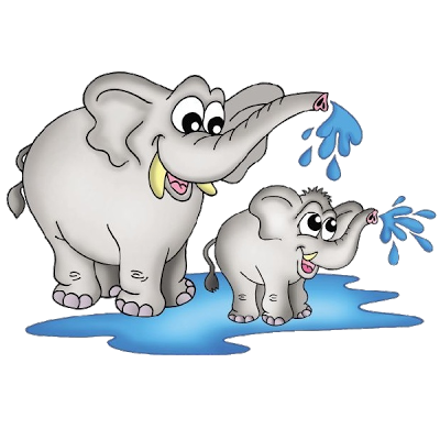 Baby Elephant And Mother Clipart.