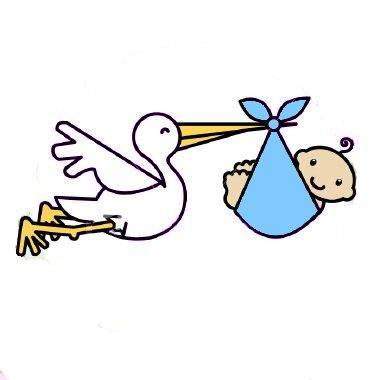 Free New Baby Stork, Download Free Clip Art, Free Clip Art.