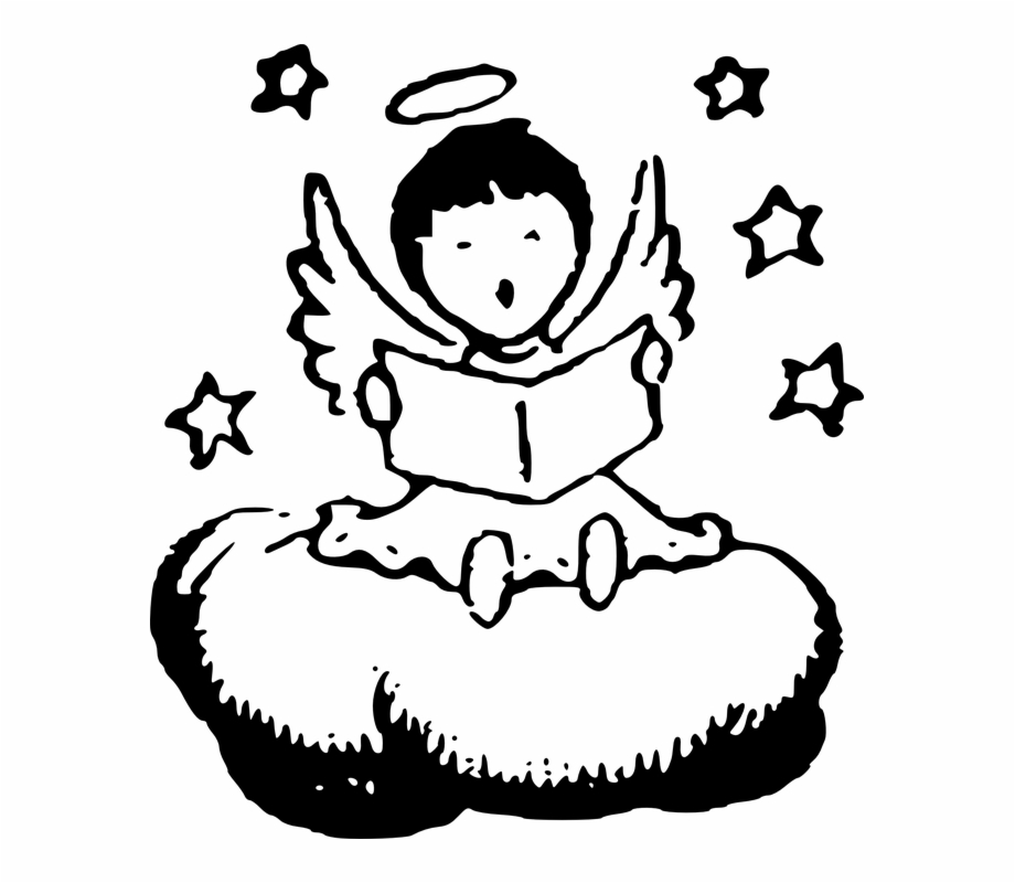 Free Angels Clipart Black And White, Download Free Clip Art.