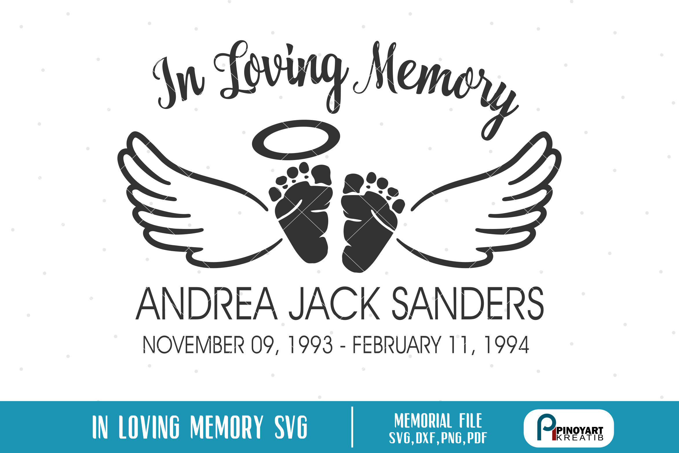 In Loving Memory svg, Baby Memorial Svg, Baby Angel Svg, Baby Svg, Angel  Svg, Angel Wings Svg, Baby Memorial Clip Art, Baby Angel Clip Art.