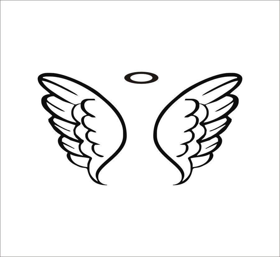 900x826 Baby Angel Wings Drawing.