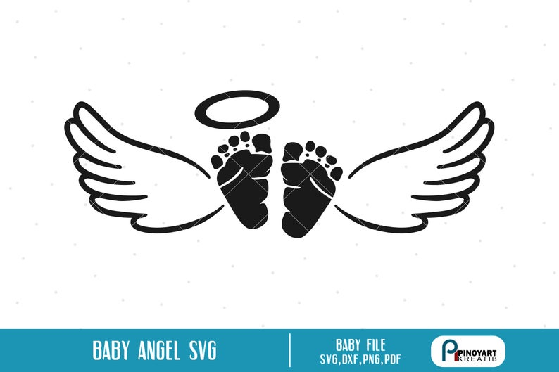 Baby Memorial Svg, Baby Svg, Baby Angel Svg, Angel Svg, Angel Wings Svg,  Baby Clip Art, Baby Feet Svg, Baby Memorial Clip Art, Svg, Svg File.