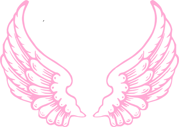 Baby angel wings clipart.