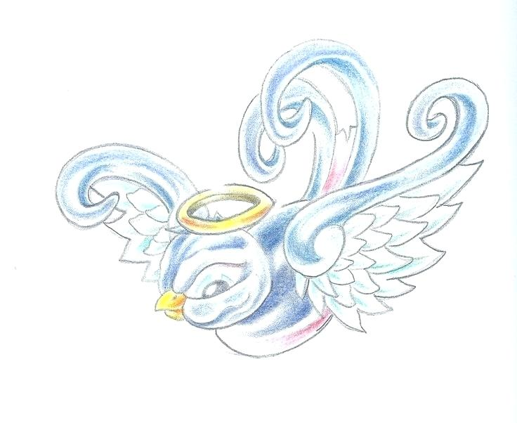 Baby With Angel Wings Drawing at GetDrawings.com.