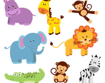 Free Baby Jungle Animals Clipart.